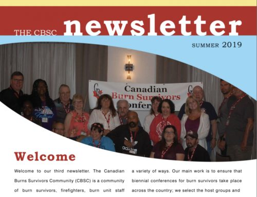 Canadian Burn Survivors Community Summer Newsletter is out.