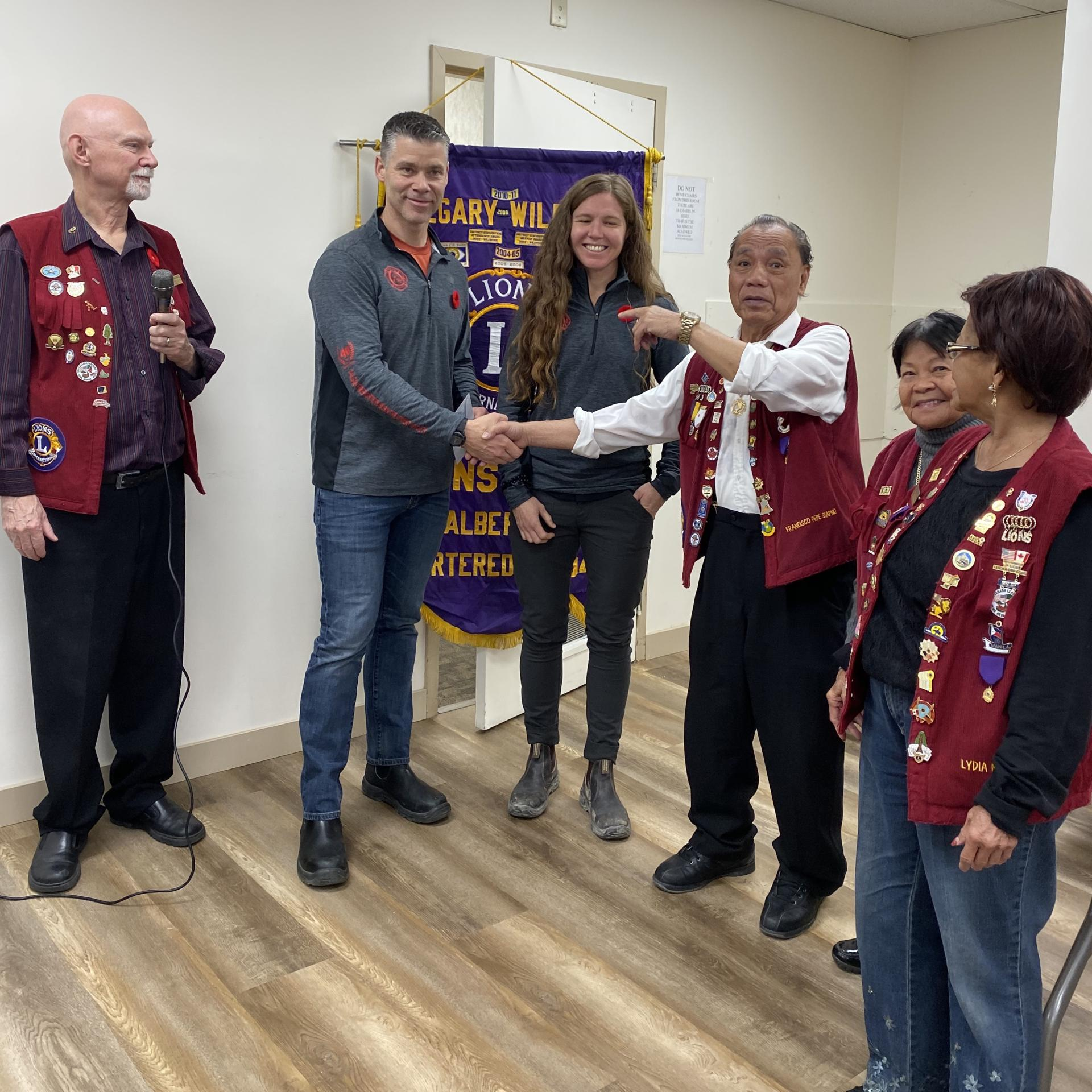 Thank you Wild Rose Lions Club!